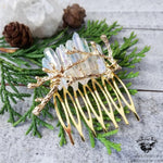 Winter quartz crystal hair comb-Wanderlust Hearts