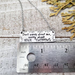 Worry about your eyebrows necklace