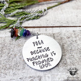 Yoga because punching is frowned upon necklace-Wanderlust Hearts