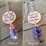 Your vibe attracts your tribe necklace-Wanderlust Hearts