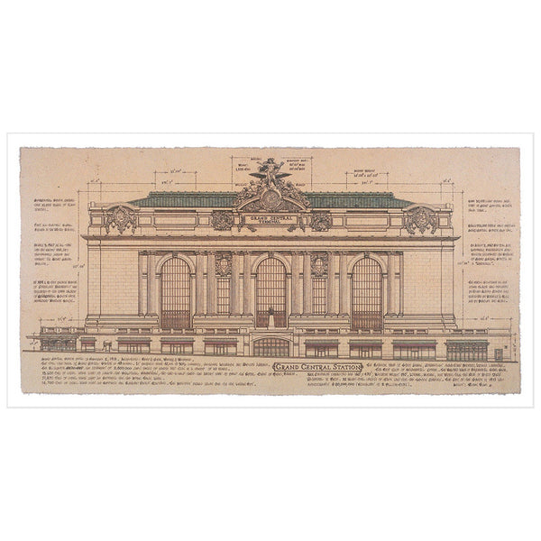 Grand Central Station, Facade (small) by Roger Vilar - FairField Art Publishing