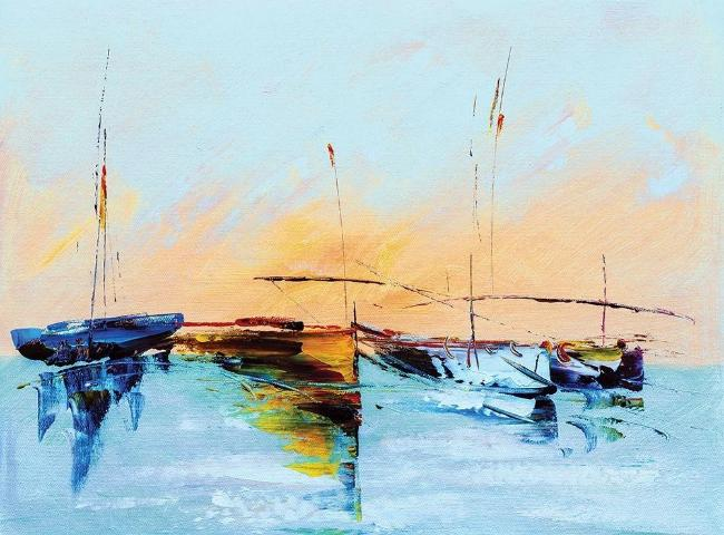 Sailboat Abstract Giclee