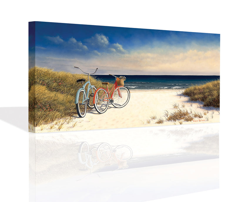 Hampton Bikes Canvas Art by Daniel Pollera - FairField Art Publishing