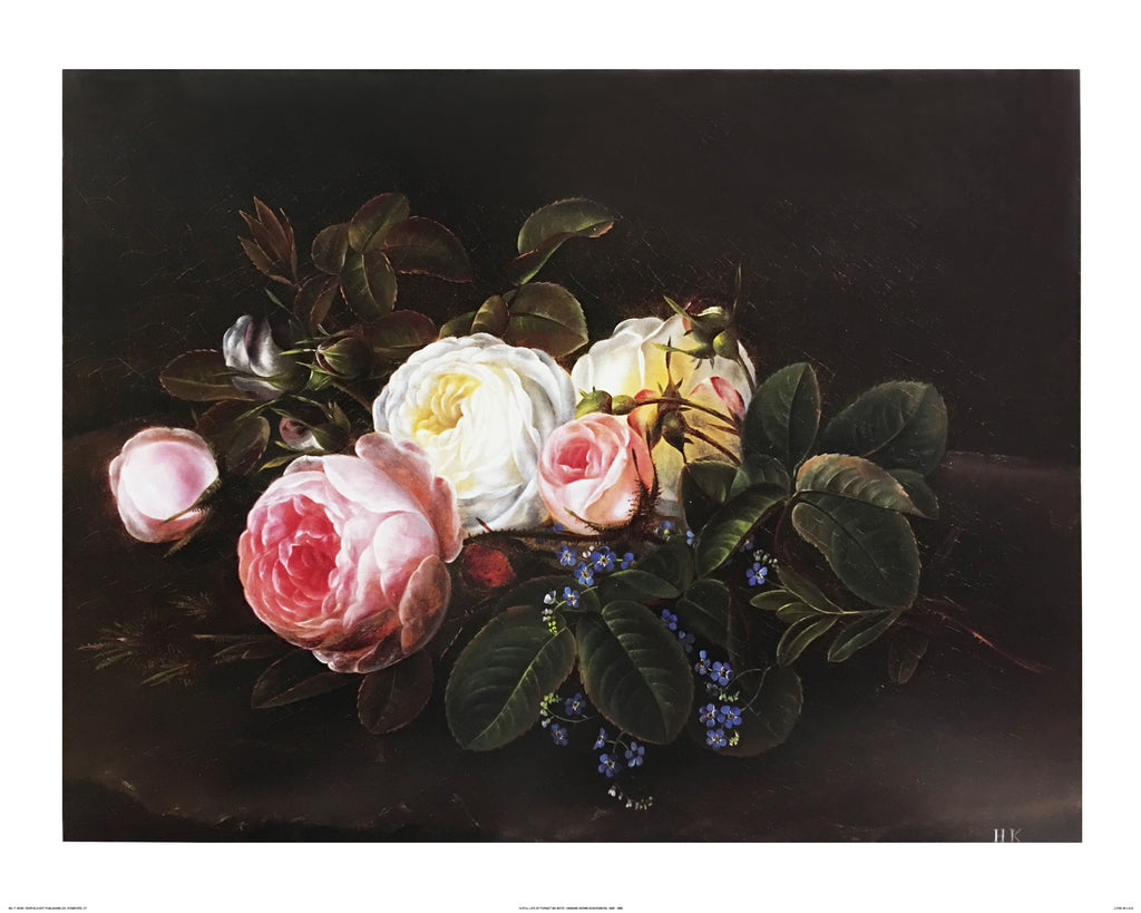 A Still Life with Roses and Forget-Me-Nots by Hansine Kernn Eckersberg - FairField Art Publishing