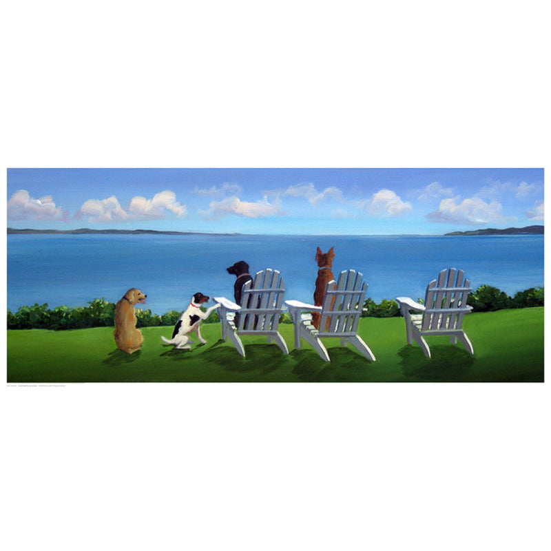 Pups with a View Coastal by Carol Saxe - FairField Art Publishing