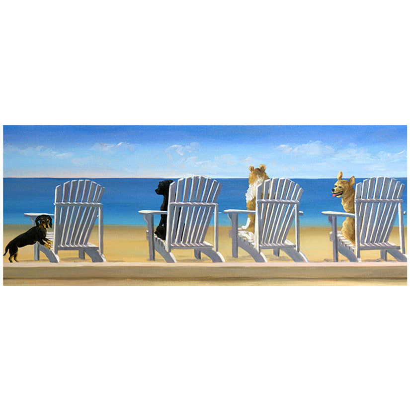 Beach Chair Tails Coastal by Carol Saxe - FairField Art Publishing