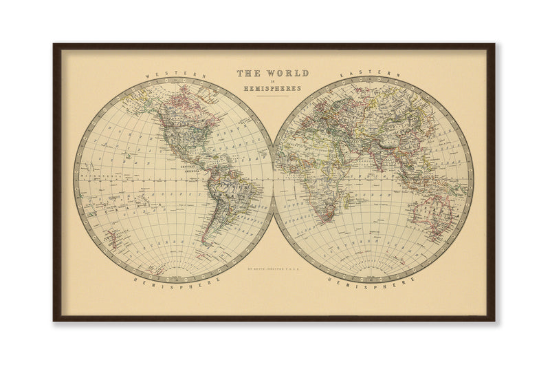 The World in Hemispheres 1912