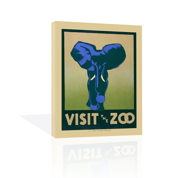 Visit the Zoo, Canvas Art