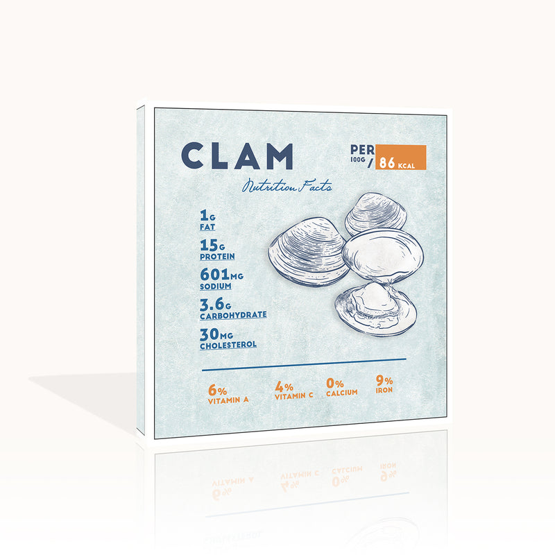 Clam Nutrition Facts by Anon - FairField Art Publishing