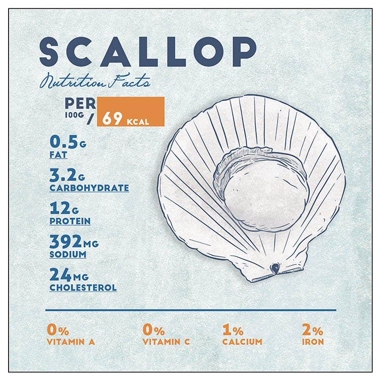 Scallop Nutrition Facts, Giclee