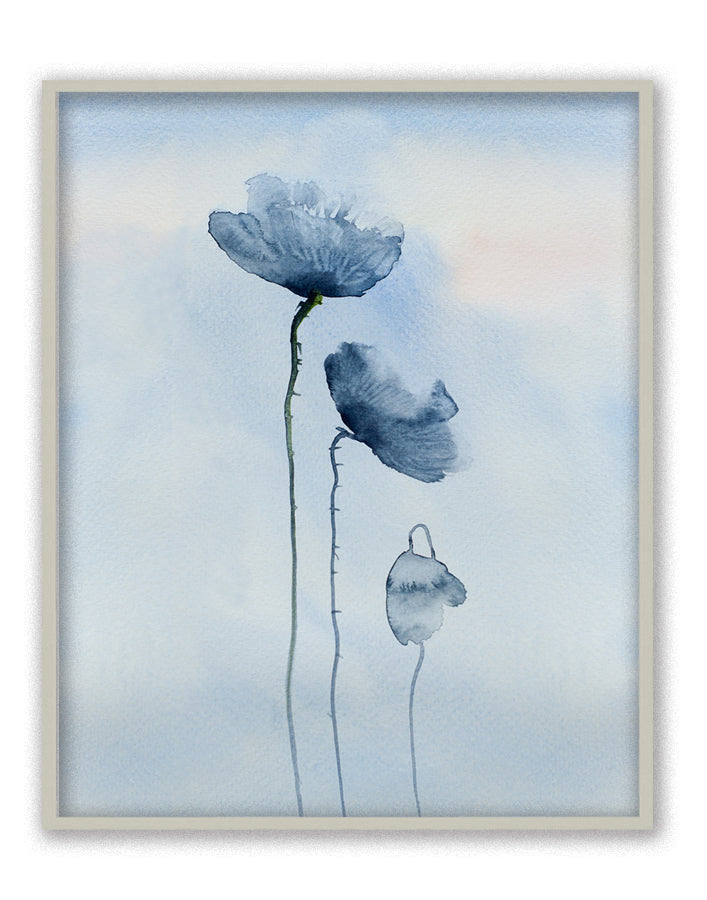 Poppies in Blue