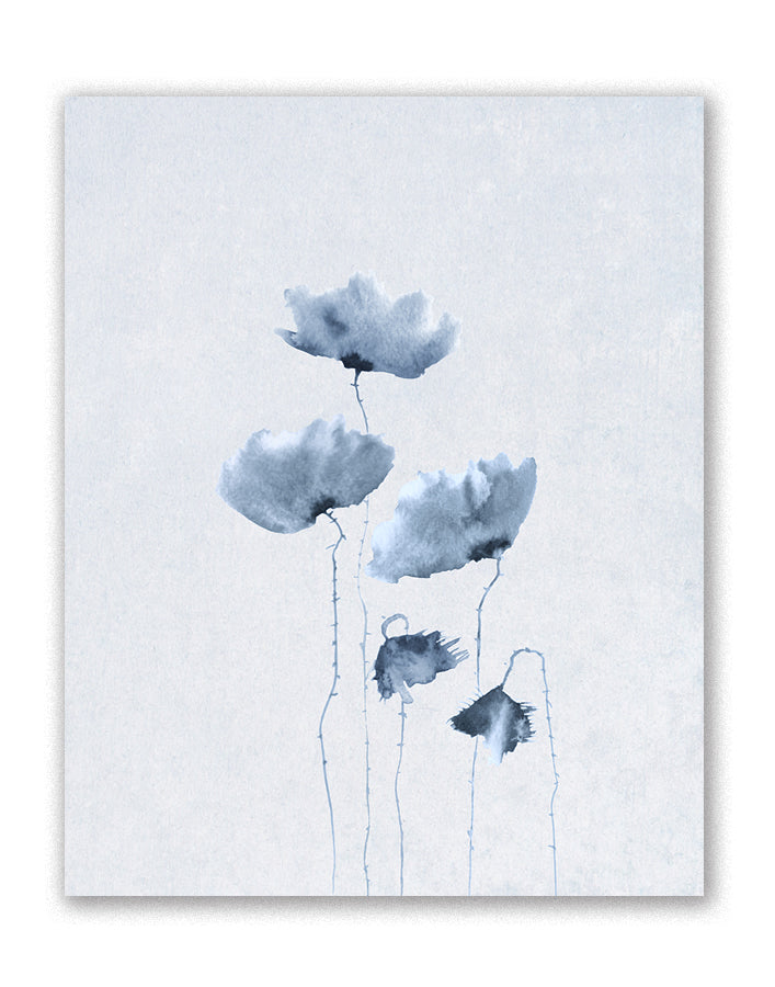 Blue Poppies 1. by FairField Art Publishing - FairField Art Publishing