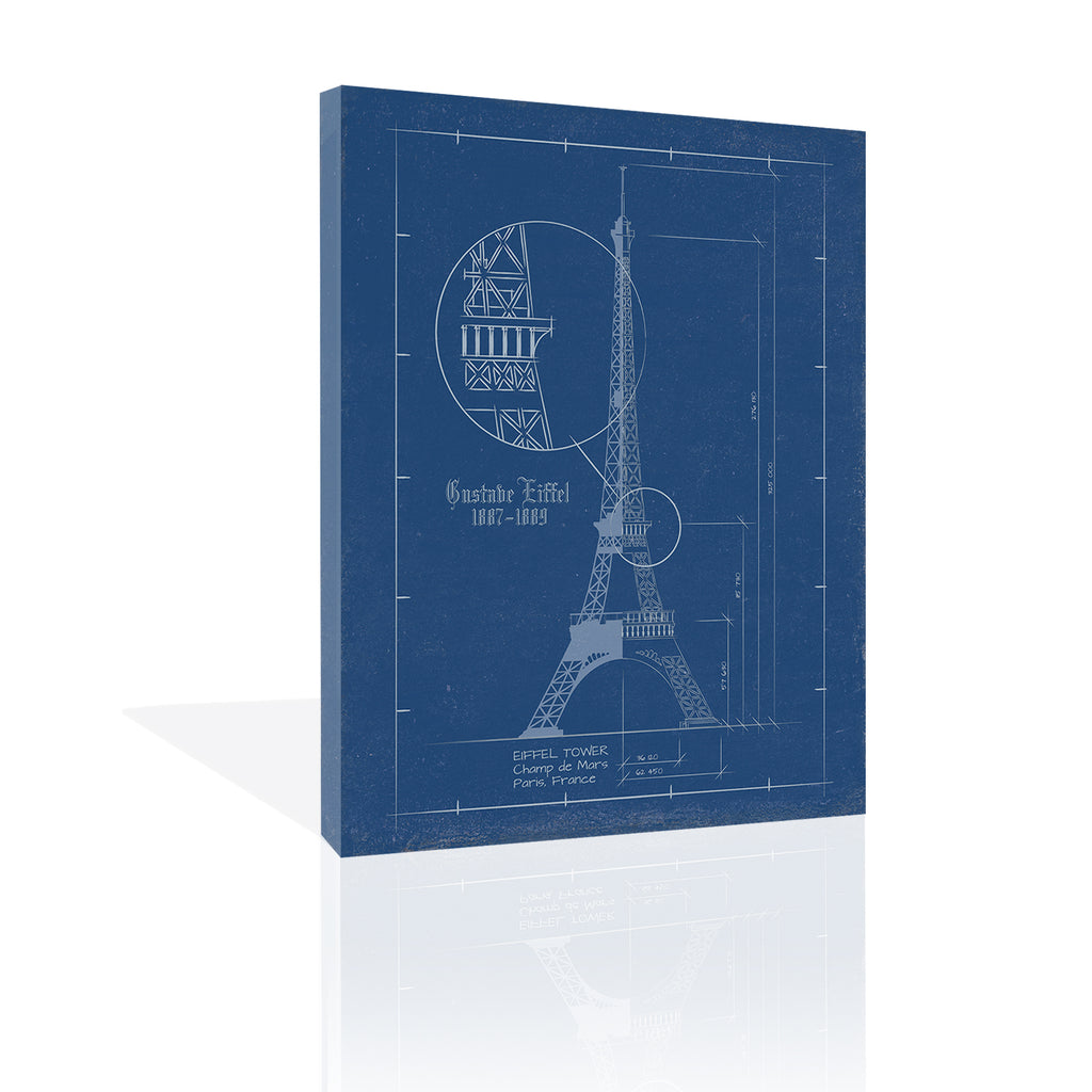 Eiffel Tower Blueprint by FairField Art Publishing - FairField Art Publishing