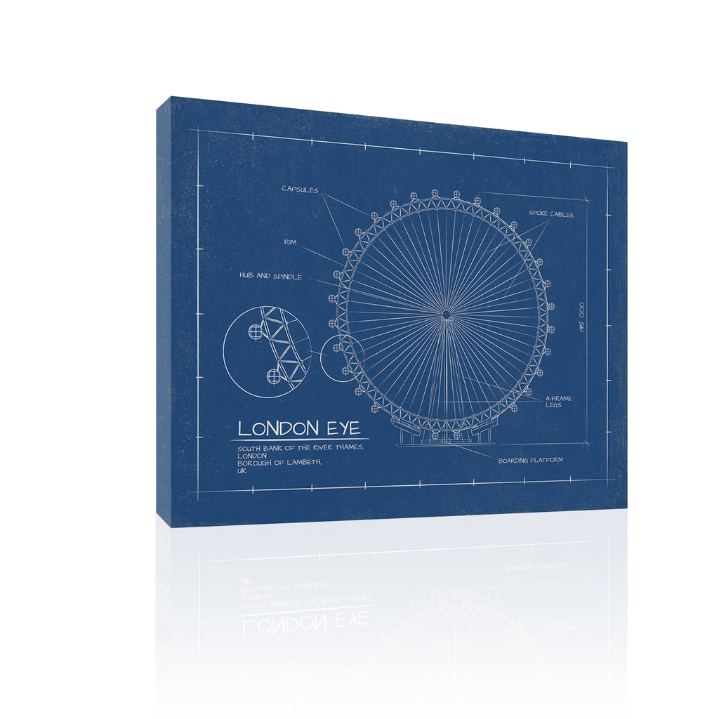London Eye Blueprint by FairField Art Publishing - FairField Art Publishing
