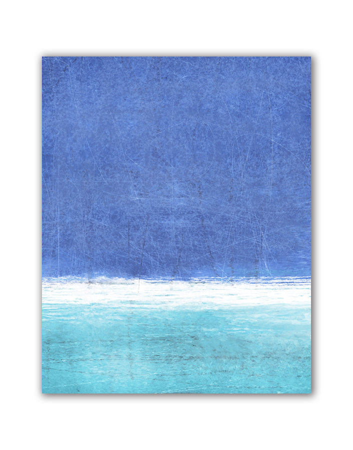 Blue Fields Abstract, Canvas Art by C. Tice - FairField Art Publishing