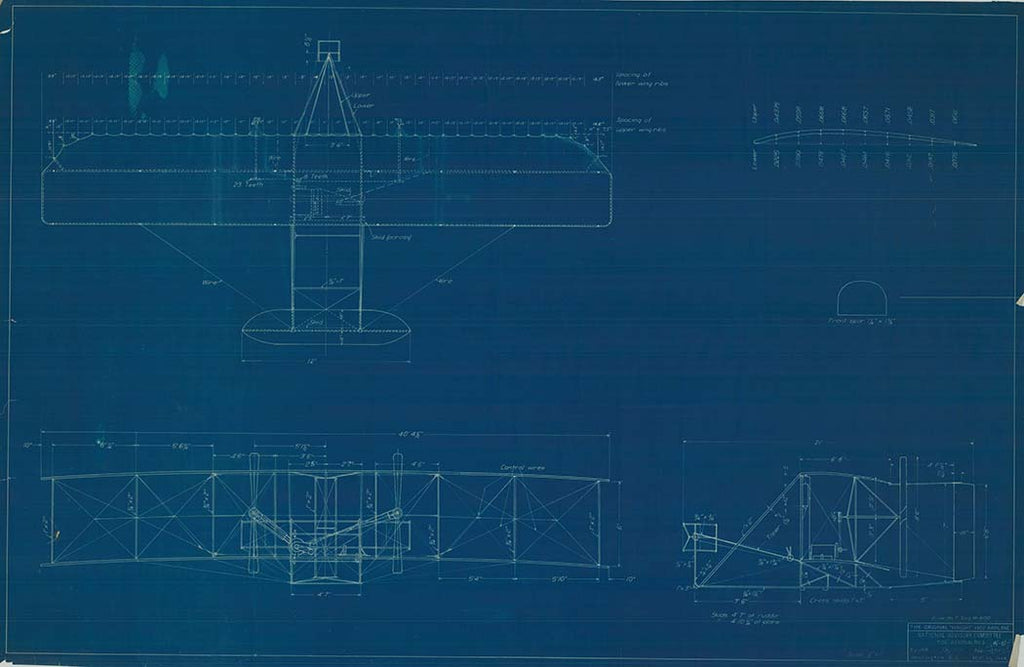 Wright Plane Blueprint