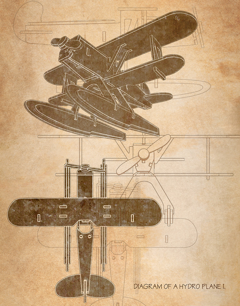 Hydro Plane I., Giclee by Anon - FairField Art Publishing