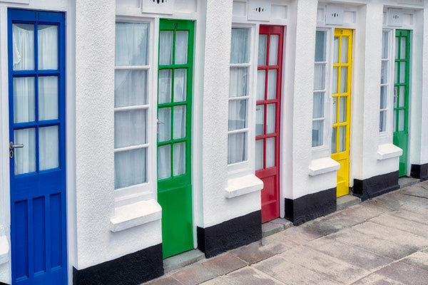 Colorful Doors in St Ives. Cornwall, England II