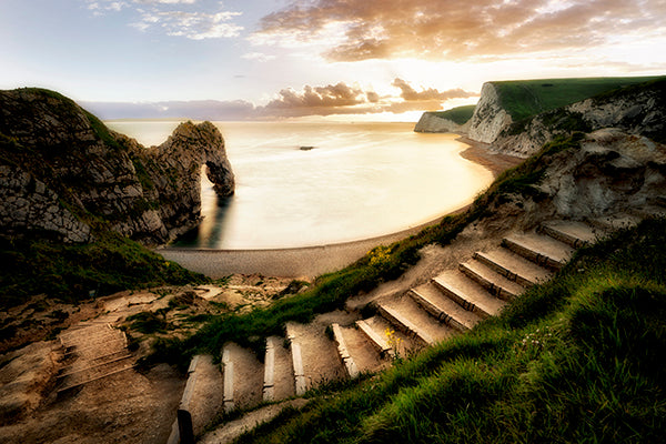 Sunset at Durdle Door with Pathway Dorset