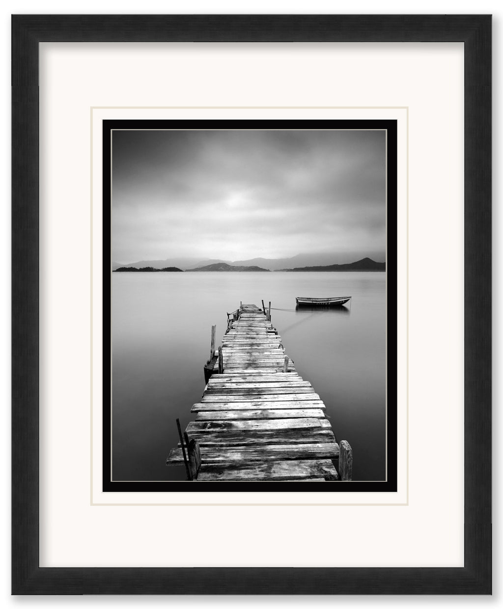 Peaceful Pier-  Framed Matted