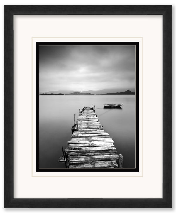 Peaceful Pier-  Framed Matted Framed Matted by Anon - FairField Art Publishing
