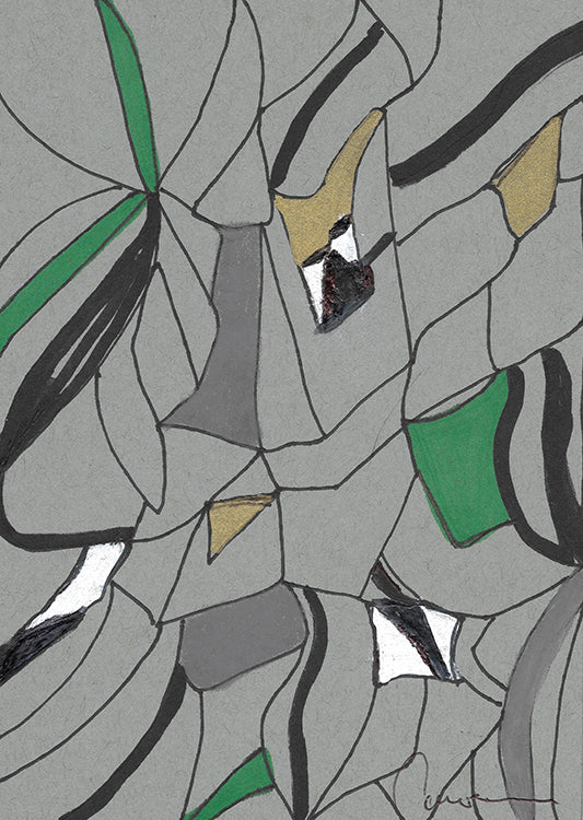 Abstract Grey and Green