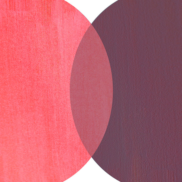 Abstract Circles Red