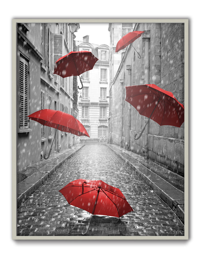 Floating Umbrellas Canvas Art by Anon - FairField Art Publishing