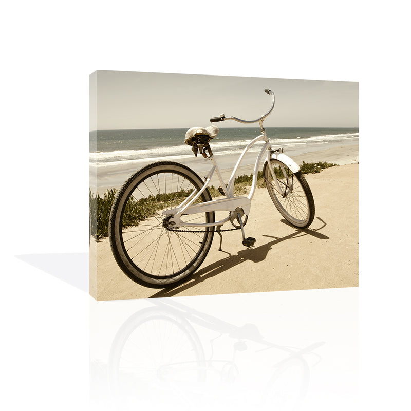 Beach Bike Canvas Art by Anon - FairField Art Publishing