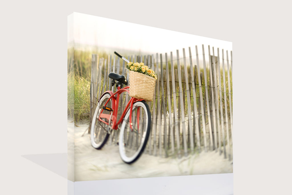 Bike by Beach Fence, Canvas Canvas by Anon - FairField Art Publishing