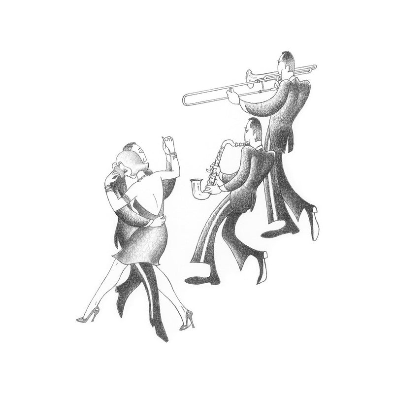 Swing to the Music Drawing Print by Roger Vilar - FairField Art Publishing
