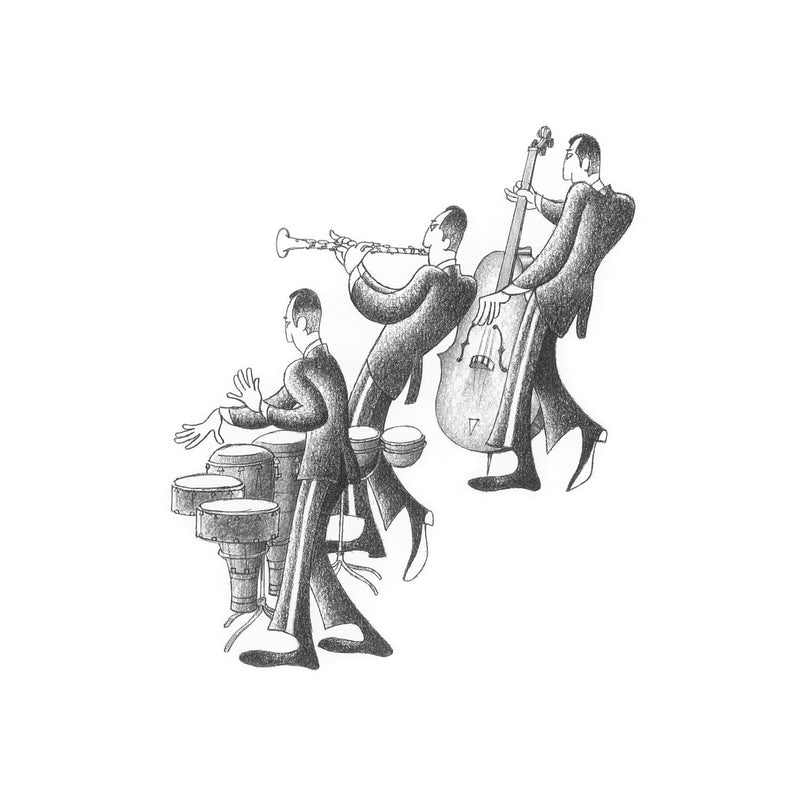 Cuban Trio Drawing Print by Roger Vilar - FairField Art Publishing