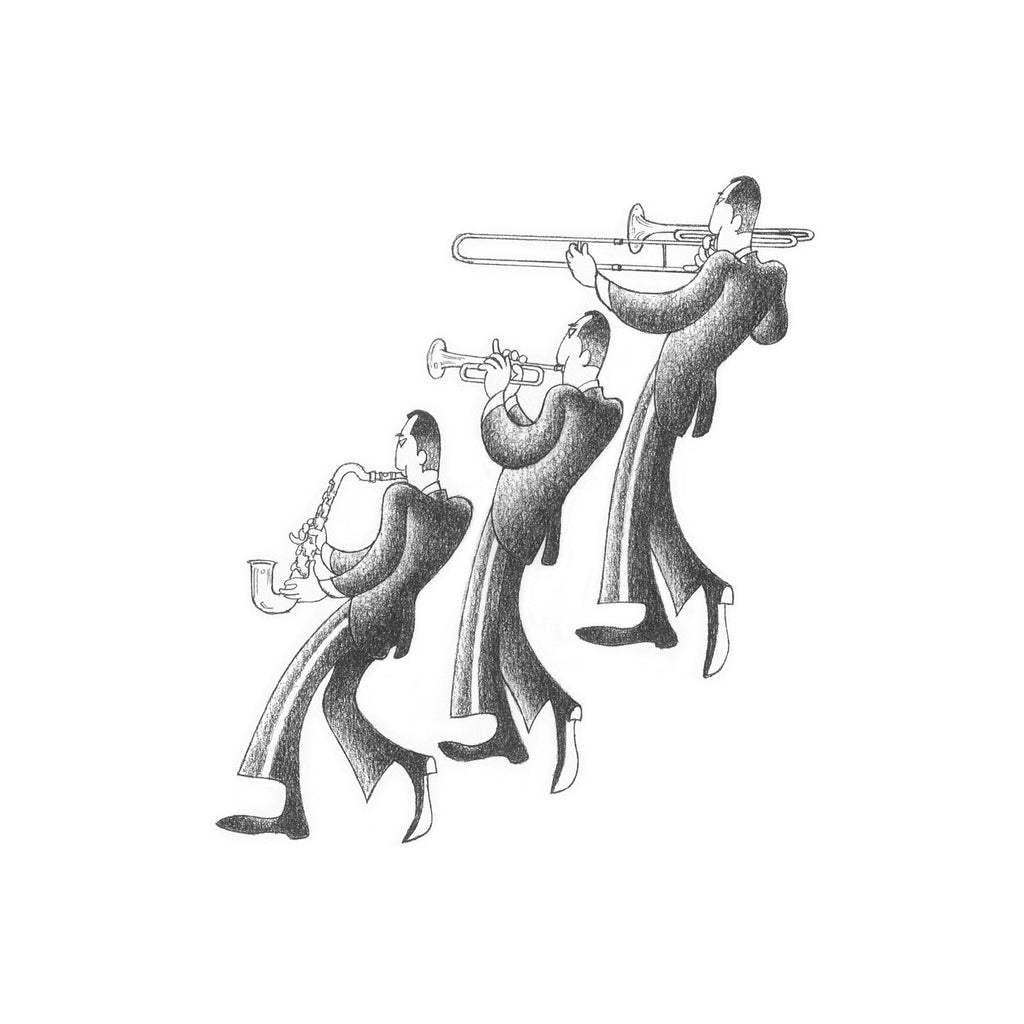 Jazz Melody Drawing Print by Roger Vilar - FairField Art Publishing