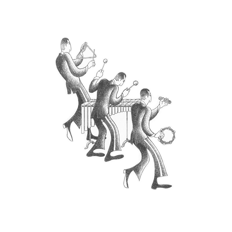 Marimba Section Drawing Print by Roger Vilar - FairField Art Publishing
