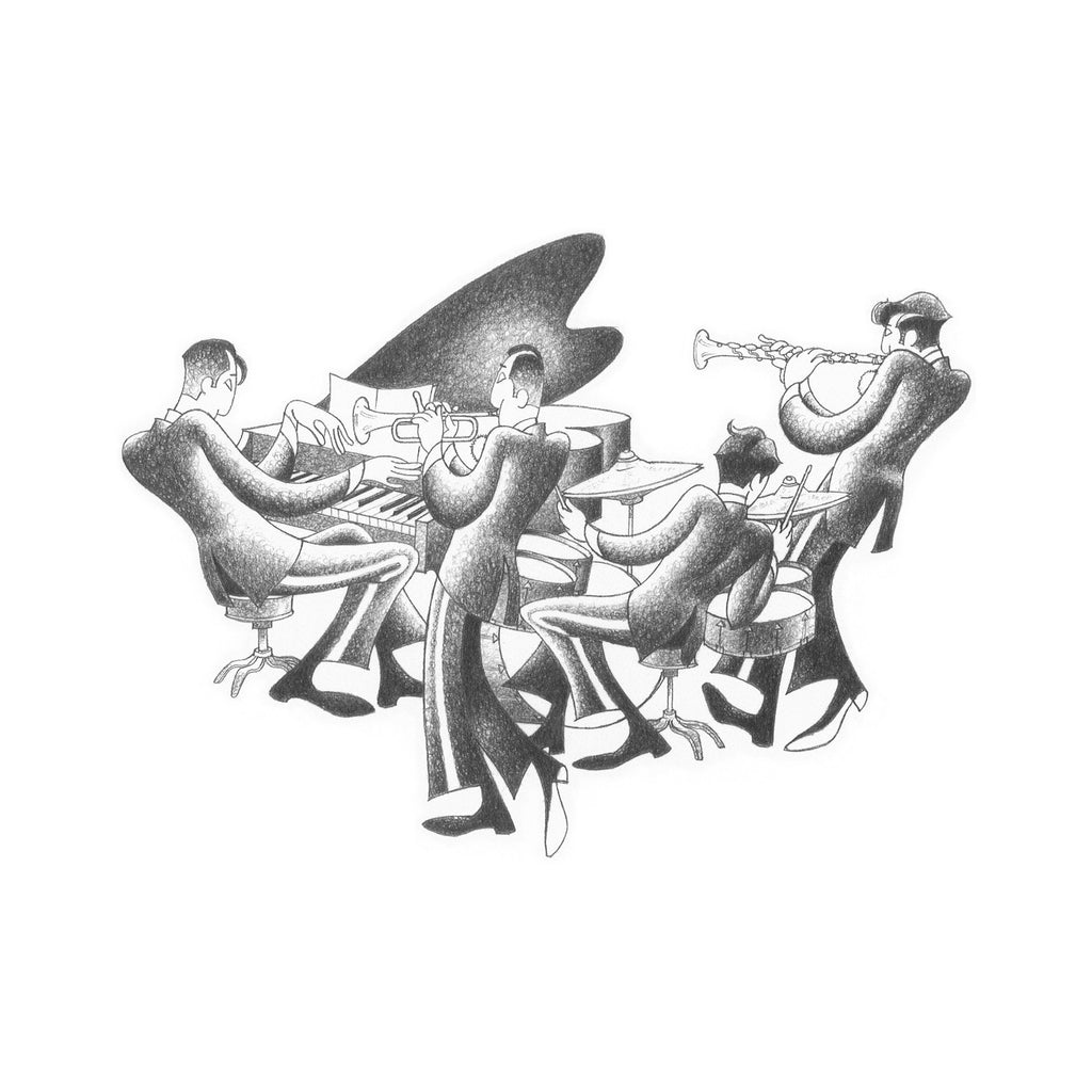 Cool Quartet Drawing Print by Roger Vilar - FairField Art Publishing