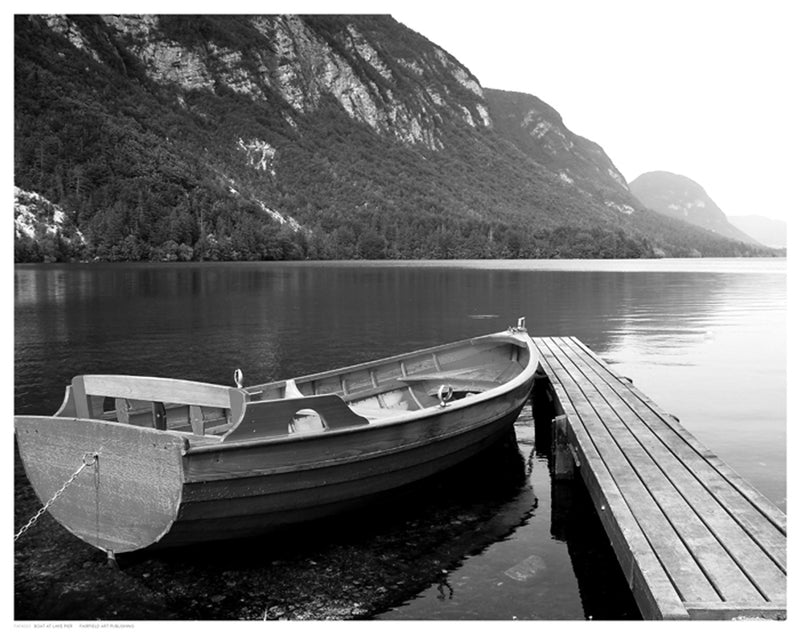 Boat at Lake Pier by Anon - FairField Art Publishing