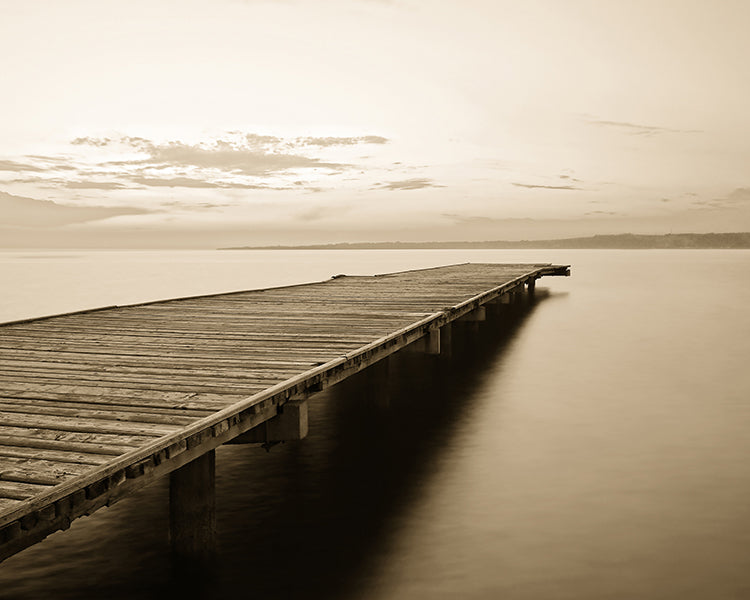 Old Wooden Pier, Giclee