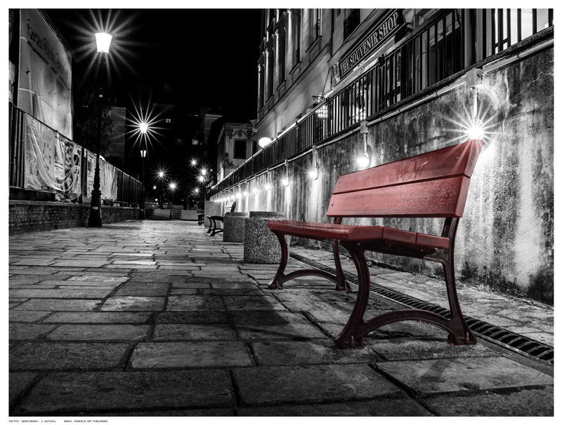 Night Bench by L. Outchill - FairField Art Publishing