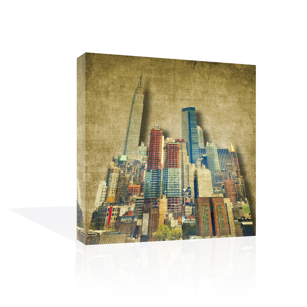 Vintage Skyline Canvas Art