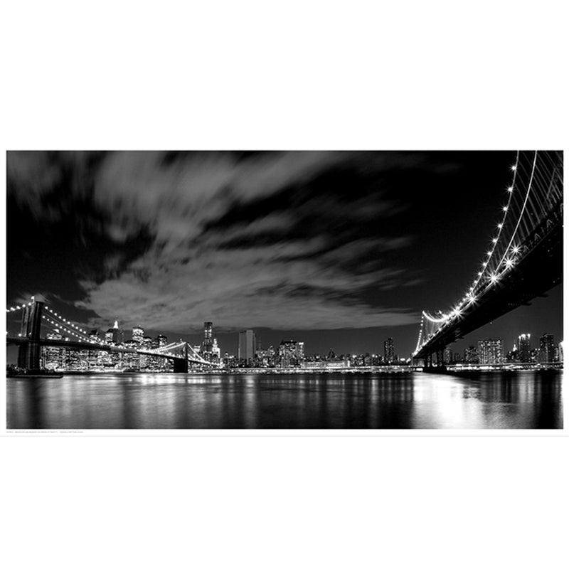 Brooklyn and Manhattan Bridge at Night II Posters by Anon - FairField Art Publishing