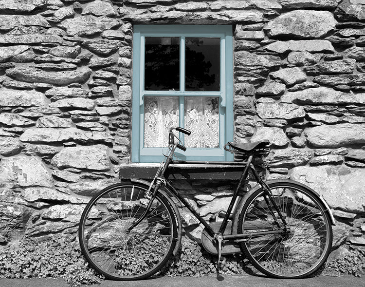 Bicycle by Rural Cottage