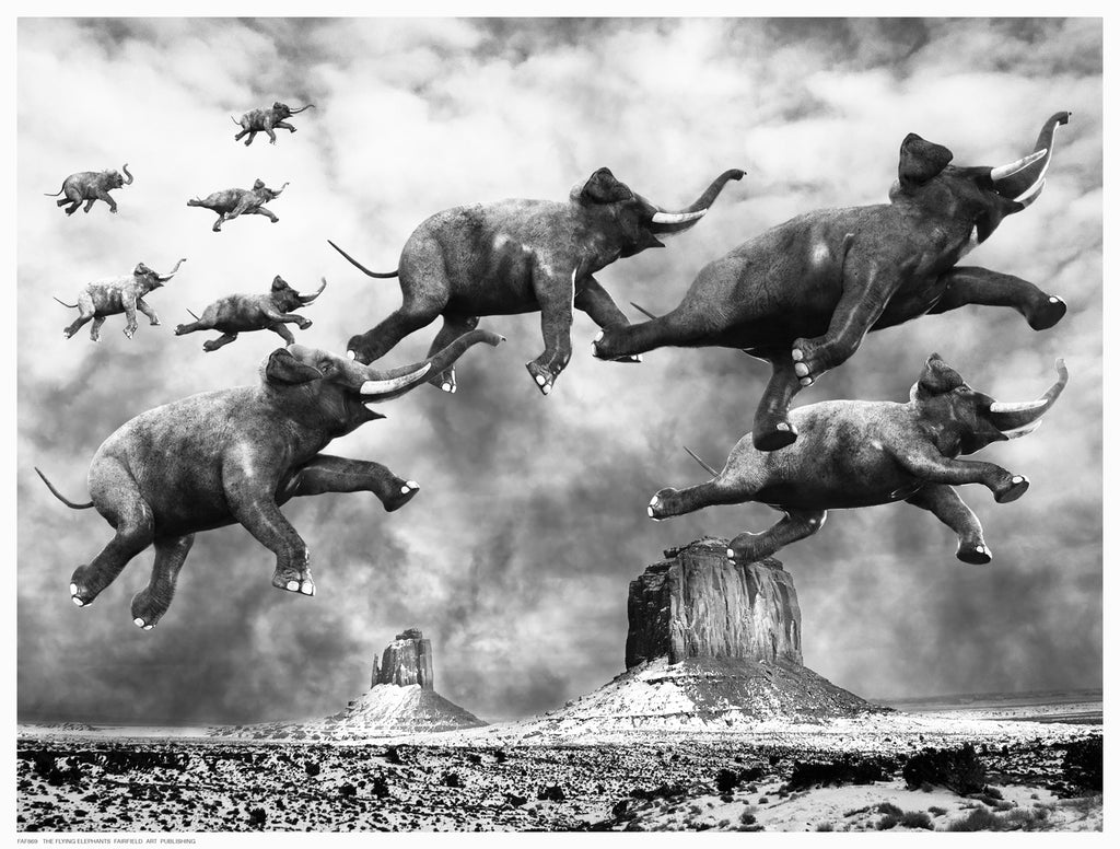 Flying Elephants by Anon - FairField Art Publishing