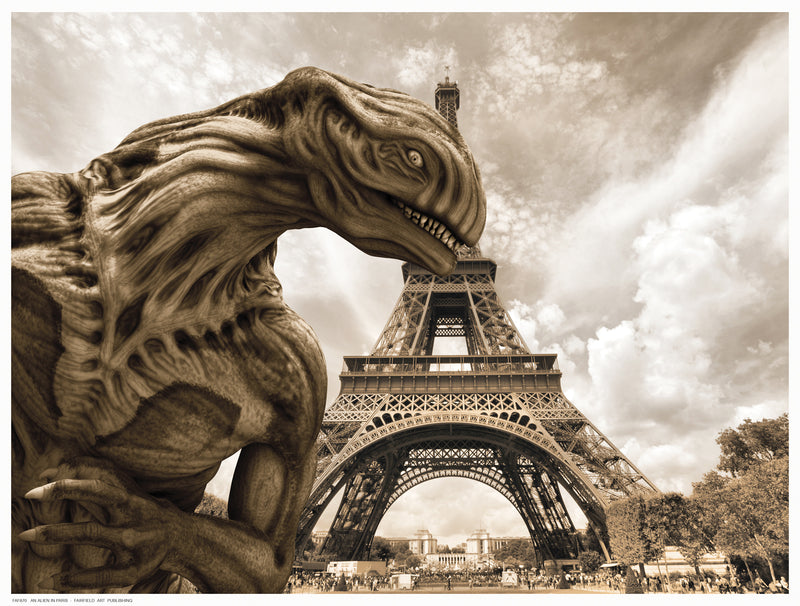 An Alien in Paris Novelty by Bucklin - FairField Art Publishing