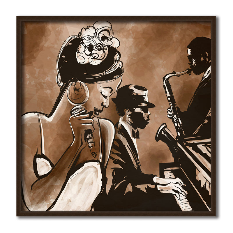 Lady and the Blues Canvas Art by Anon - FairField Art Publishing