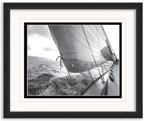 Heeling to Port Framed Matted Framed Matted by Anon - FairField Art Publishing