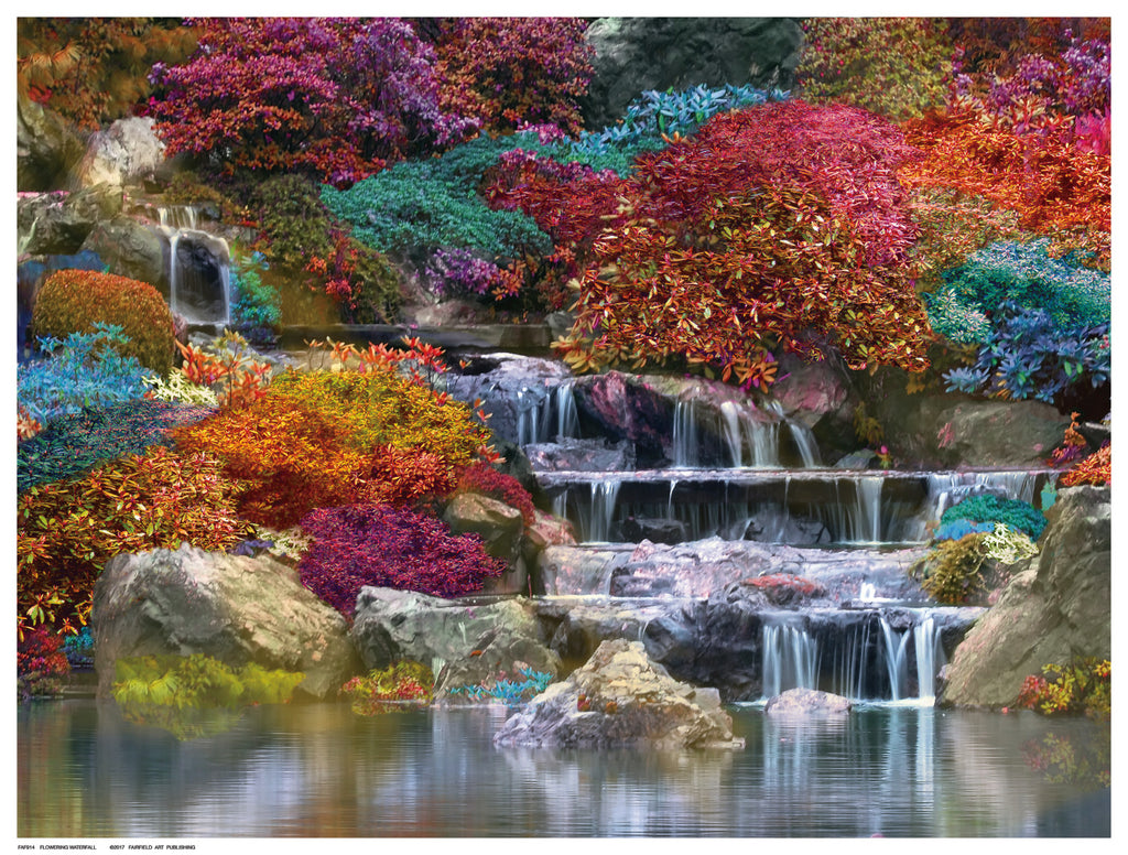 Flowering Waterfall Decorative by Anon - FairField Art Publishing