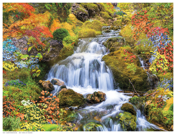 Country Stream In Bloom by Anon - FairField Art Publishing