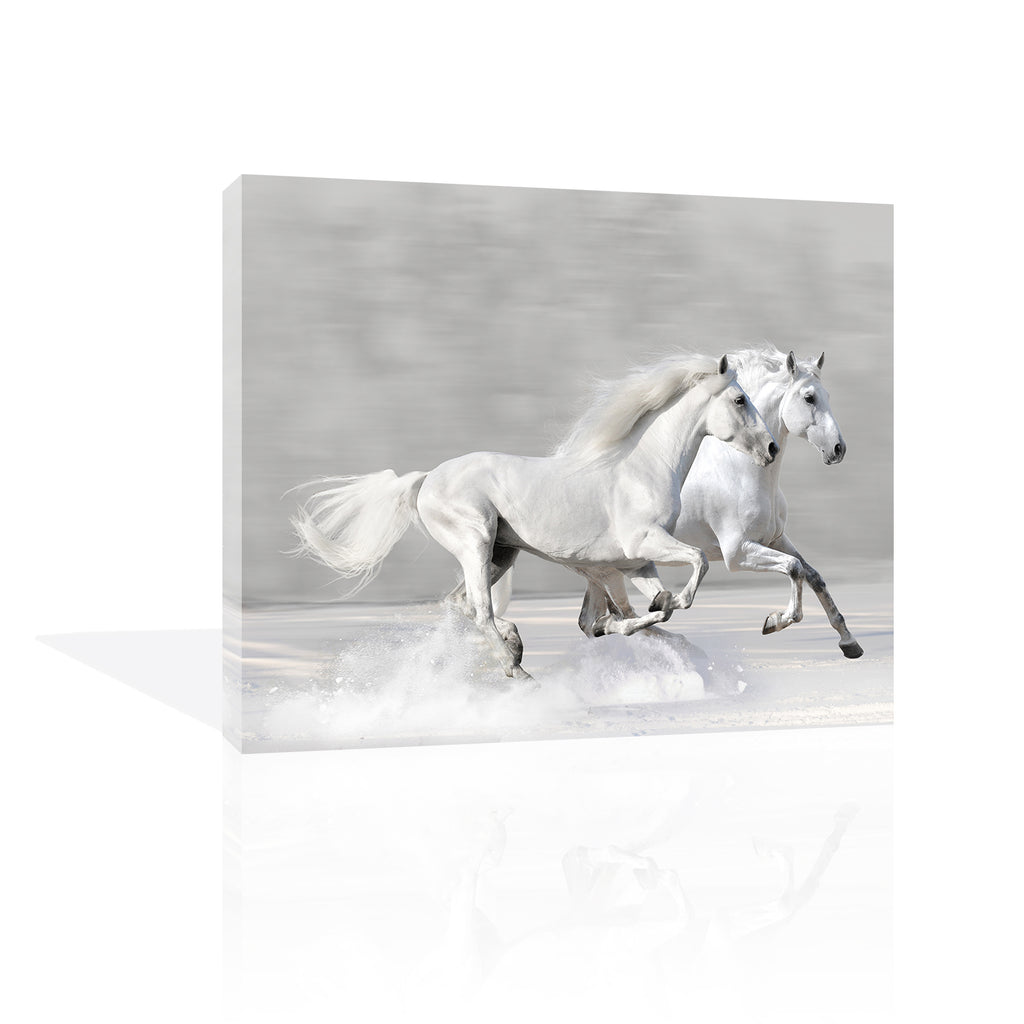 Winter Gallop Canvas Art