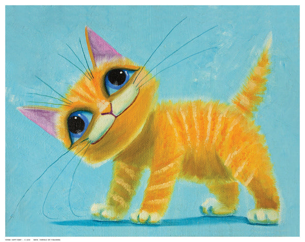Happy Tabby Posters by K. Leov - FairField Art Publishing