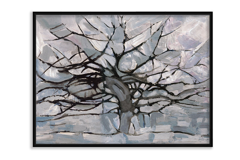 Grey Tree Abstract Canvas Art by Anon - FairField Art Publishing